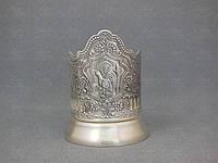 Кольчугино Подстаканник посеребренный Глухарь С52608