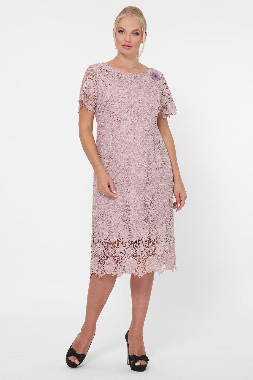 Нарядное женское платье из ирландского кружева больших размеров 52-58