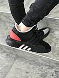 Мужские кроссовки Adidas Originals EQT Bask Adv (Black/Red/White) 40-45р. Живое фото (Реплика ААА+), фото 3