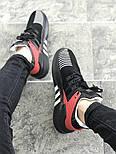 Мужские кроссовки Adidas Originals EQT Bask Adv (Black/Red/White) 40-45р. Живое фото (Реплика ААА+), фото 5