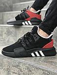Мужские кроссовки Adidas Originals EQT Bask Adv (Black/Red/White) 40-45р. Живое фото (Реплика ААА+), фото 2