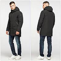 Подовжена зимова чоловіча куртка-парка KTL, чорна 50, фото 1