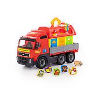 """1442 Серия транспортных игрушек """"Спецмашина"""" - автомобиль бортовой + серия развивающих игрушек для детей до 3-х лет - домик для зверей (в сеточке)"""