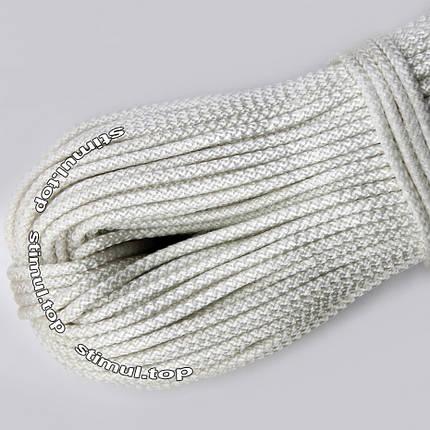 Шнур полипропиленовый бытовой Ø 5 мм (моток 100 метров) / Канат вязаный белый / Мотузка для білизни біла, фото 2