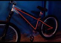 Подсветка велосипеда Холодным неоном—элетролюминесцентным проводом.