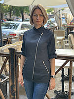 Женская однотонная куртка-китель для повара, фото 4