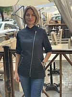 Женская однотонная куртка-китель для повара, фото 5