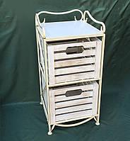 Этажерка кованая (полка металлическая) на 2 ящика вертикальная, фото 1