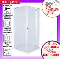 Квадратная душевая кабина 90x90 см Volle Benita 10-22-905Rglass стекло прозрачное