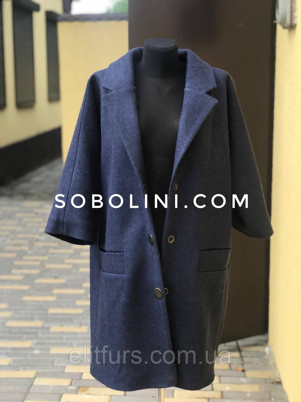 Пальто с английским воротником в наличии