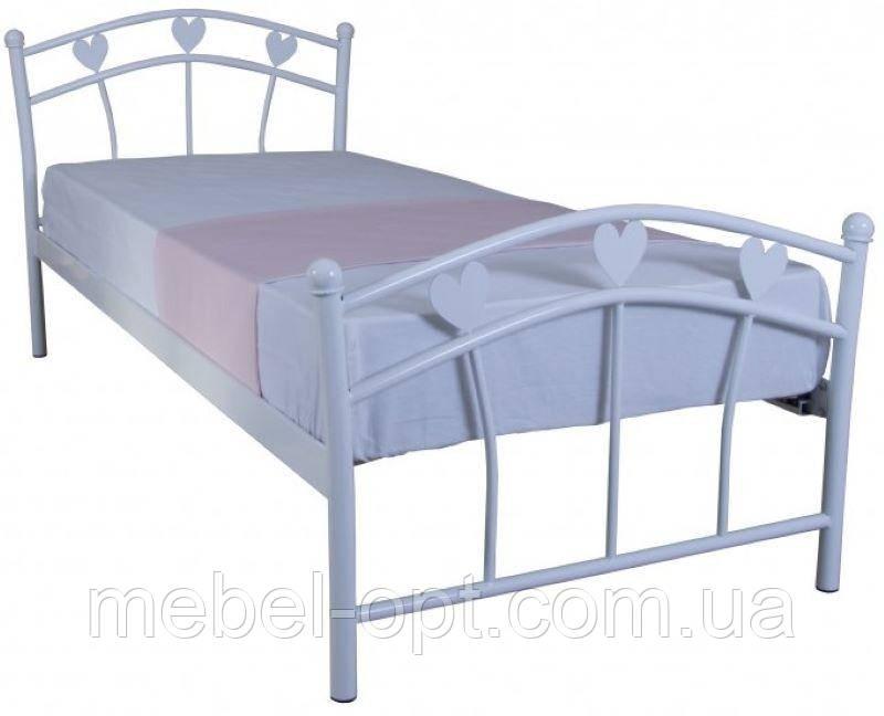 Кровать односпальная металлическая Marlena 900х2000 white Бесплатная доставка