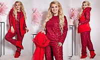ЖІноча костюм-піжама з тапочками та жилеткою .Р-ри 42-54, фото 1
