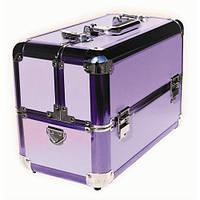 Чемодан-кейс алюминиевый 109 фиолетовый матовый