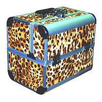 Чемодан-кейс алюминиевый 2629 (леопард)