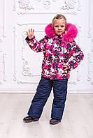 Яркий зимний комбинезон для девочек, фото 1