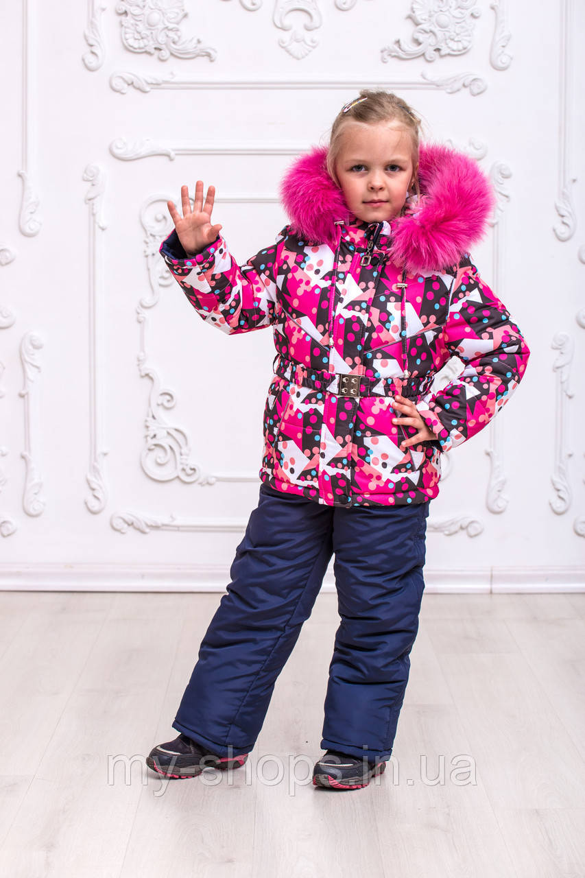 Яркий зимний комбинезон для девочек