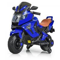 Детский мотоцикл BMW на аккумуляторе M 3681AL-4 синий (разные цвета), надувные колеса, свет/звук, USB,MP3.