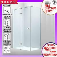 Прямоугольная душевая кабинка Volle Libra 120x80 см 10-22-908Lglass левая