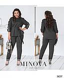 Нарядный женский костюм брюки и кофта батал  Размеры 50-52, 54-56, фото 2