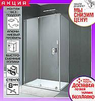 Прямоугольная душевая кабинка 117x87 см Volle Teo 10-22-333 левая