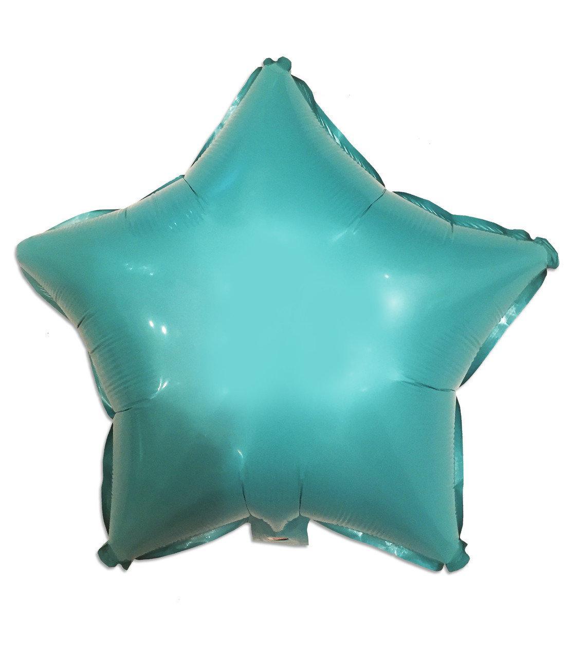 Фольгированная Звезда бирюза    45 см