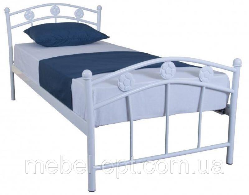 Кровать односпальная металлическая Smart 900х2000 white Бесплатная доставка