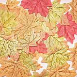 Кленовые листь. 10 шт. Зеленый., фото 2