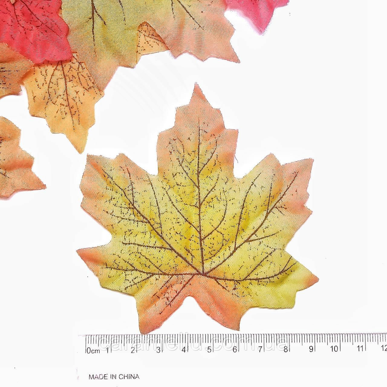 Кленовые листь. 10 шт. Зеленый.