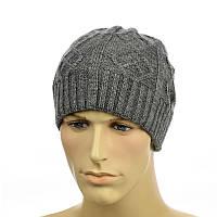 "Мужская шапка ""Alex"" серый, фото 1"