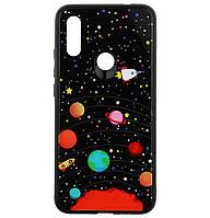 Чехол-накладка TPU+Glass Fashionable Case для Xiaomi Redmi 7 (Star Space)