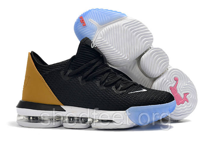 "Баскетбольные кроссовки Nike LeBron XVI Low Soundtrack ""BLACK WHEAT"""