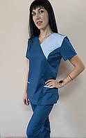 Костюм женский медицинский Грация с рубашечной ткани Тайланд