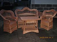 """Комплект плетеной мебели с лозы """"Капля-2"""""""
