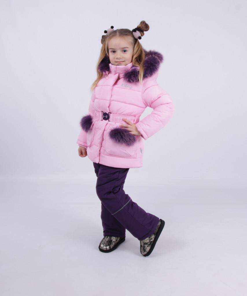 Детский зимний комбинезон для девочки от Kiko 4946 | 80-98р.