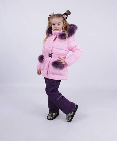 Детский зимний комбинезон для девочки от Kiko 4946 | 80-98р., фото 2