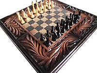 Шахматы-нарды резные ручной работы, фото 1