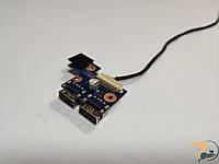 Плата з кнопкою включення та роз'ємами USB для ноутбука Samsung NP305E7A, 300E, NP300E7A, BA92-08350A, Б/В. В хорошому стані, без пошкоджень.