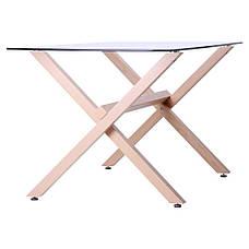 Стол обеденный Vesca Каркас бук/стекло прозрачное, фото 2