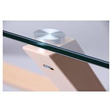 Стол обеденный Vesca Каркас бук/стекло прозрачное, фото 3