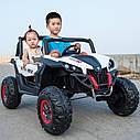 Детский электромобиль Джип M 3602 EBLR-1, Багги, 4WD, белый, фото 5