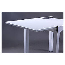 Стол Пирей B179-76-2 750(1500)*750*750 База белый/Стекло белый, фото 3