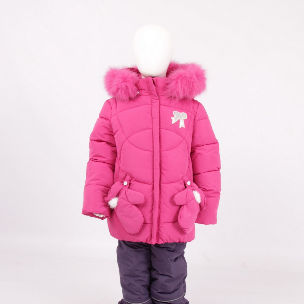 Детский зимний комплект для девочки Кико  5304 с рукавичками |  80-104р.