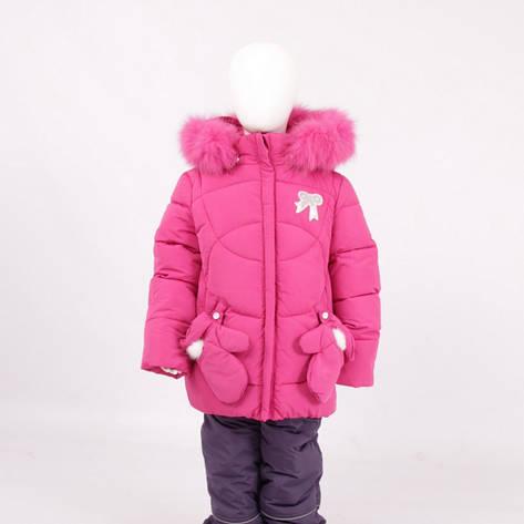 Детский зимний комплект для девочки Кико  5304 с рукавичками |  80-104р., фото 2