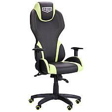 Кресло VR Racer Zeus черный, PU черный/зеленый, фото 2