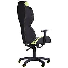 Кресло VR Racer Zeus черный, PU черный/зеленый, фото 3