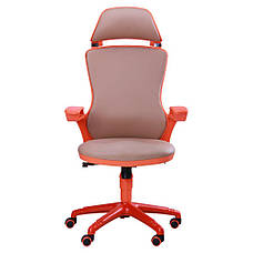 Кресло Boomer к/з хаки, каркас оранжевый, фото 3