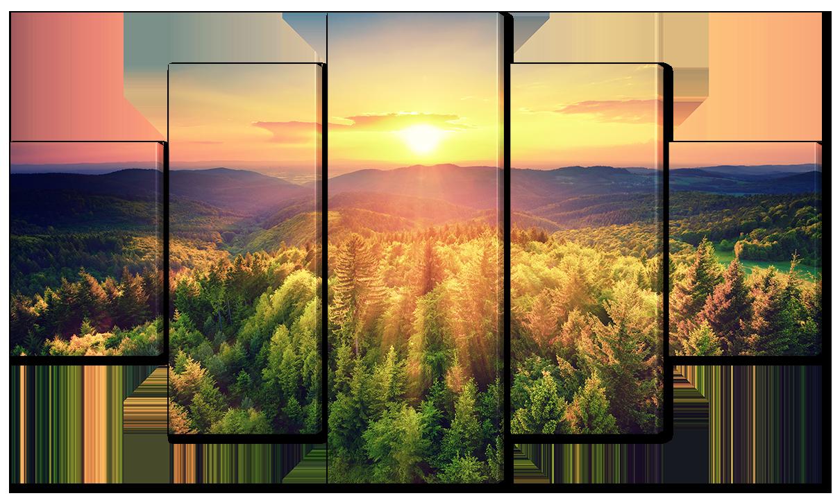 Модульная картина Interno Холст Закат на горизонте 142х80см (R3533L)