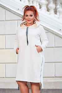 Платье-туника с капюшоном на молниях