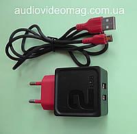 Блок питания USB 5V 2.4A, два гнезда, + кабель micro usb
