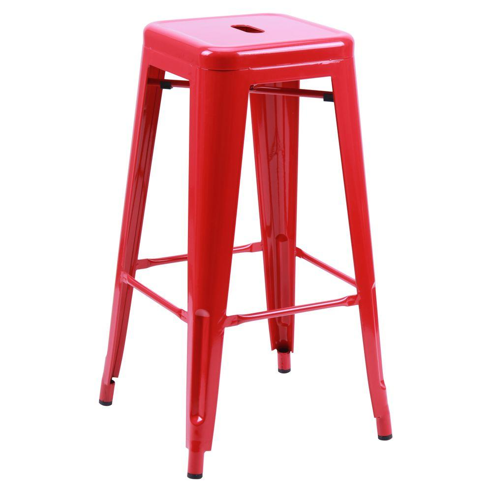 Табурет Loft Metal Красный